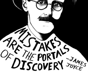 quote, James Joyce, and mistakes image