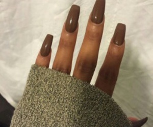 nails, brown, and luxury image
