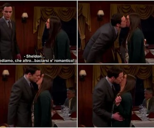 amy, first kiss, and the big bang theory image