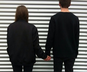 couple, love, and black image