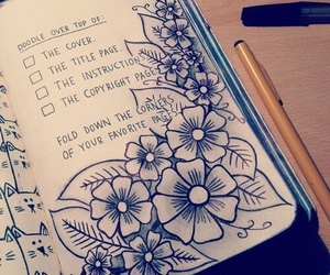 wreck this journal, flowers, and love image
