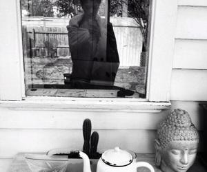 Buddha, interior, and mirror image