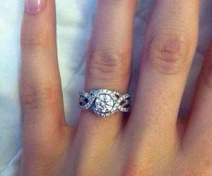 ring, diamond, and emerald image