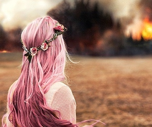 fantasy, fire, and hair image