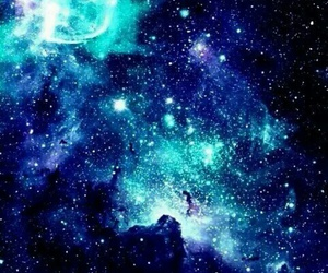 galaxy, blue, and stars image