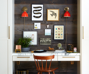 desk, home decor, and home office image