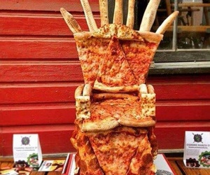 pizza, funny, and game of thrones image