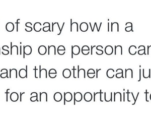inlove, scary, and Relationship image