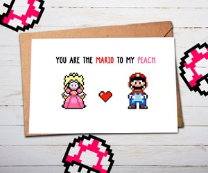 mario, peach, and valentine image