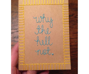 crafting, diy, and embroidery image