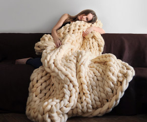 blanket, home, and knit image