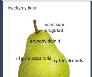 pear, funny, and lol image