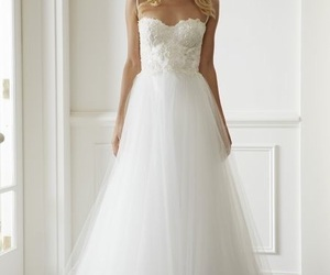 beautiful, dress, and wedding image