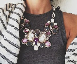 gray, light, and necklace image