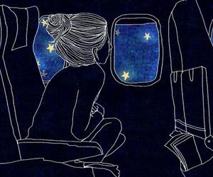 stars, night, and art image
