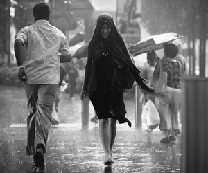 bad weather, candid, and people image
