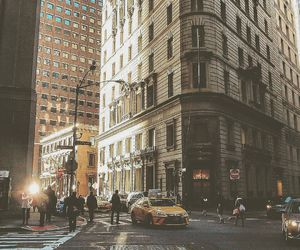 bright, buildings, and cabs image