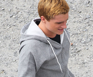 josh hutcherson, catching fire, and love image
