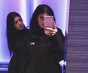kylie jenner, kourtney kardashian, and sisters image