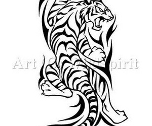 tattoo, tribale, and tigre image