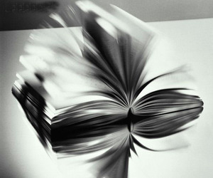 black&white and book image