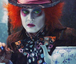 alice in wonderland, alice, and johnny depp image