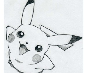 drawing, pikachu, and pokemon image