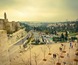 city, zion, and hebrew image