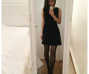 black clothes, black dress, and dress image