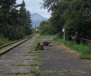 travel, backpacking, and train image
