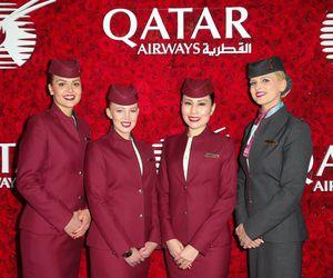 flight attendant, cabin crew, and qatar airways image