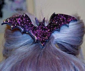 bat, glitter, and hair image