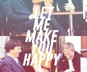 benedict cumberbatch, happy, and Martin Freeman image
