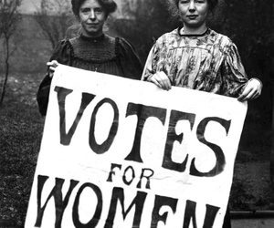 woman, vote, and vintage image