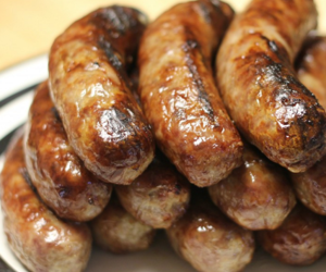 beer, mustard, and sausages image