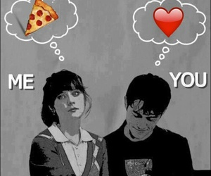 love, pizza, and me image