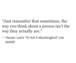 Harper Lee, mocking bird, and quotes image
