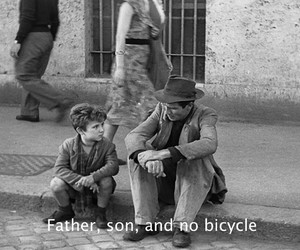 bicycle, black and white, and cinema image