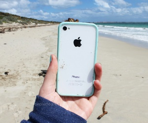 iphone, beach, and cool image