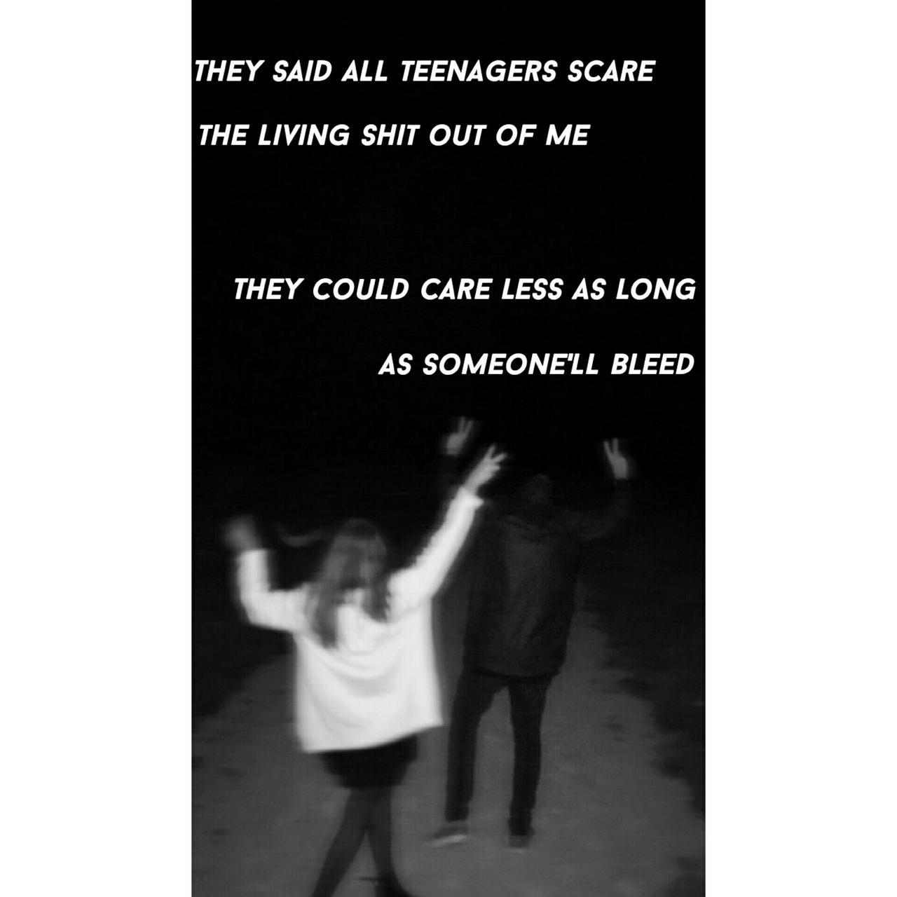 Wallpaper Lockscreen With Lyrics From Teenagers By My
