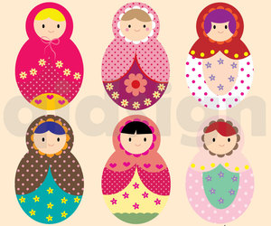 etsy, illustration, and russian doll image