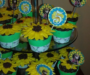cupcakes, sunflowers, and frozen anna image