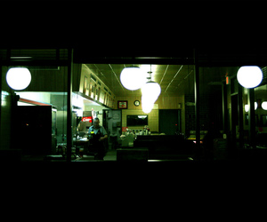 diner, lights, and night-time image