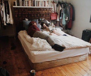 couple, love, and room image