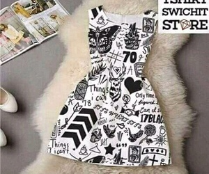 dress, one direction, and tattoo image