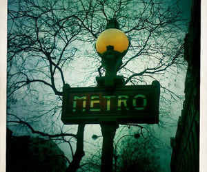 metro, sign, and paris image