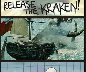 slenderman, funny, and kraken image