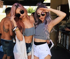 fun, nice, and violet hair image
