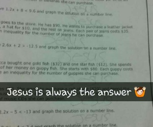 homework, jesus, and math image