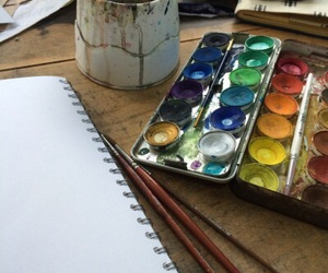 art, happy, and watercolor image